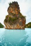 Limestone island - the coast of Thailand, Phuket. The high limestone island in the ocean - the coast of Thailand, Phuket Royalty Free Stock Photos