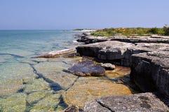 Limestone Island in Georgian Bay Royalty Free Stock Image