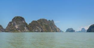 Limestone island in Phang Nga Bay National Park, Thailand. Landscapes of limestone island in Phang Nga Bay National Park, Thailand Stock Photos