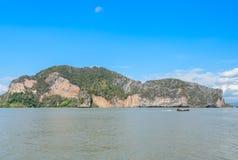 Limestone island in Phang Nga Bay National Park, Thailand Stock Image