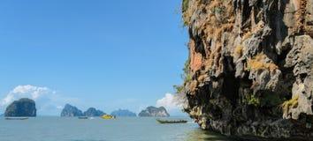Limestone island in Phang Nga Bay National Park, Thailand Stock Images