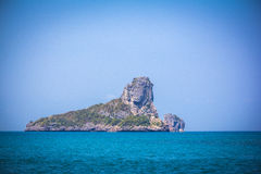 Limestone island in the shape of a lion Royalty Free Stock Image