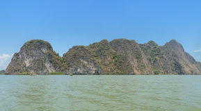 Limestone island in Thailand Stock Photography