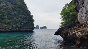 Limestone islands of Koh Phi Phi Leh or Ko Phi Phi Ley. Koh Phi Phi Leh or Ko Phi Phi Ley an island of the Phi Phi archipelago, in the Andaman Sea. It is part of stock video footage