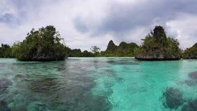 Limestone Islands and Lagoon in Wayag, Raja Ampat stock video