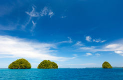 Limestone islands in Palau Stock Image