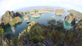 Limestone Islands in Raja Ampat stock footage