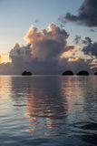 Limestone Islands and Sunset Stock Images