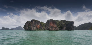 Limestone islands in Thailand Royalty Free Stock Photography