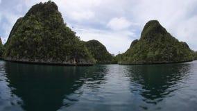 Limestone Islands of Wayag in Raja Ampat stock video
