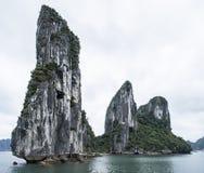 Limestone Karst in Halong Bay, Vietnam Royalty Free Stock Photo