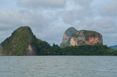 Limestone karsts. Rising out of the bay Royalty Free Stock Photography