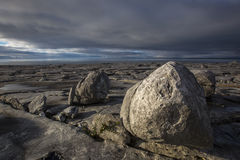 Limestone landscape the burren, county clare ireland Royalty Free Stock Photography