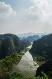 Limestone Landscape with Flooded Rice Paddies, Mua Caves, Vietnam. Limestone Landscape with Flooded Rice Paddies, Mua Caves Viewpoint, Tam Coc, Vietnam Stock Photos