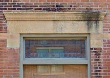 Limestone lintel. Limestone Nineteenth century window lintel Stock Image