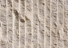 Limestone with many vertical lines Stock Photography