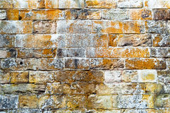 Limestone medieval wall of stone blocks texture background surface empty Stock Photo