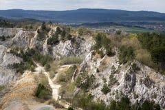 Limestone mine, Koneprusy Royalty Free Stock Photo