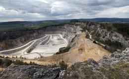 Limestone mine, Koneprusy Royalty Free Stock Images