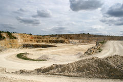 Limestone mine Stock Images