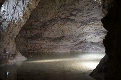 Limestone mine. The largest limestone mine in the world - Mønsted Kalkgruber in Denmark Stock Photo