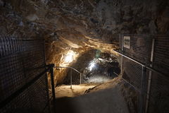 Limestone mine. The largest limestone mine in the world - & x28;Mønsted Kalkgruber in Denmark& x29 Royalty Free Stock Photos