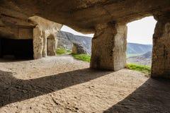Limestone mines, Old Orhei, Moldova Stock Photography