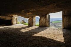 Limestone mines, Old Orhei, Moldova Stock Photos