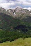 Limestone mountain. Piatra Iorgovanului limestone mountain from Romania Royalty Free Stock Photos