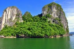 Limestone Mountain, Halong Bay Royalty Free Stock Photography