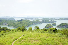 Limestone mountain islands, Halong Bay, Vietnam Stock Photos