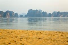 Limestone mountain islands, Halong Bay, Vietnam Royalty Free Stock Image