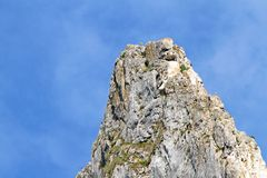 Limestone mountain peak Royalty Free Stock Photos