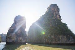 Limestone mountain at Phang Nga Bay Royalty Free Stock Photography