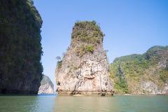 Limestone mountain at Phang Nga Bay Royalty Free Stock Image