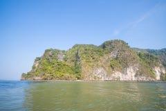 Limestone mountain at Phang Nga Bay Royalty Free Stock Photos