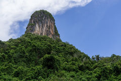 Limestone Mountain. In southern of Thailand Stock Image