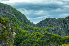 Limestone mountain Stock Images