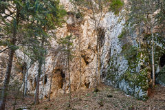 Limestone mountain wall Royalty Free Stock Photo
