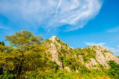 Limestone mountains with bright sky4 stock photography