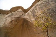 Limestone mountains. Interesting shapes of mountains in Cappadokia, Turkey Royalty Free Stock Photo