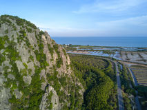 Limestone mountains in Sam Roi Yot National Park, Thailand. dron Stock Images