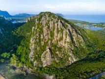 Limestone mountains in Sam Roi Yot National Park, Thailand.  Royalty Free Stock Photo