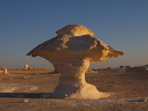 Limestone Mushroom, White Desert, Egypt. Royalty Free Stock Photography