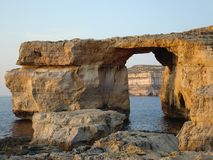 Limestone natural arch Stock Photography