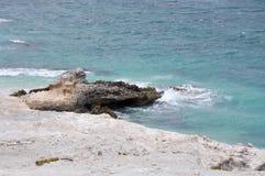 Limestone Outcropping: Foul Bay Beach Stock Image
