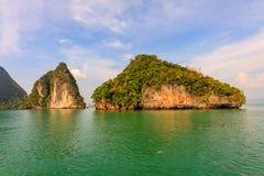 Limestone outcrops, Phang Nga Bay, Thailand.  Stock Images