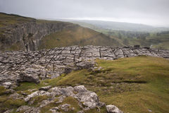 Limestone pavement, Malham Cove in Yorkshire Dales National Park Royalty Free Stock Images