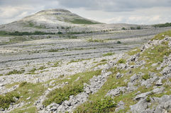 Limestone pavement mountains, Mullaghmore Royalty Free Stock Photo