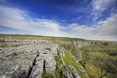 Limestone Pavement. The Limestone Pavement on top of Malham Cove Stock Images